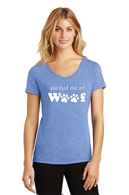 You Had Me At Woof Ladies V-Neck