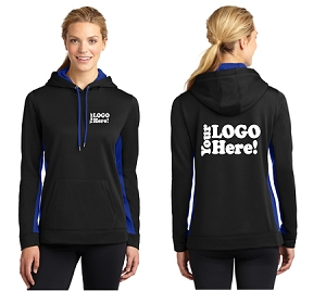 Ladies Fleece Hooded Pullover