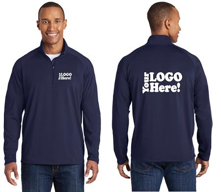 ec9436d4202ab4 Mens Sport-Wick® Stretch 1 2-Zip Pullover
