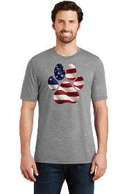 Paw Flag Mens Scoop Neck