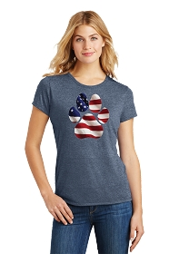 Paw Flag Ladies Scoop Neck