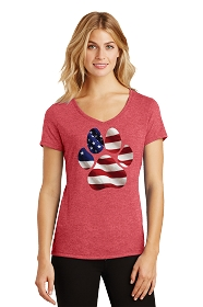 Paw Flag Ladies V-Neck