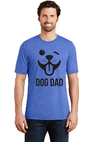 Dog Dad Winky Face Mens Scoop Neck