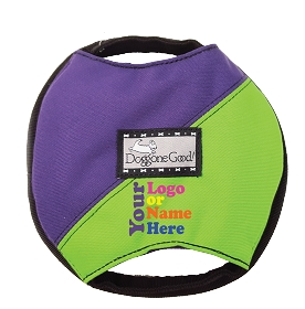 YOUR LOGO Deluxe Flying Treat Tug Frisbee with Treat Pocket