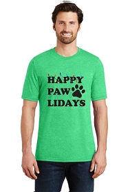 Happy Pawlidays Mens T-Shirt