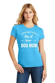 Stay at Home Dog Mom Ladies Scoop Neck