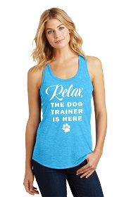 Relax Dog Trainer Ladies Tank Top